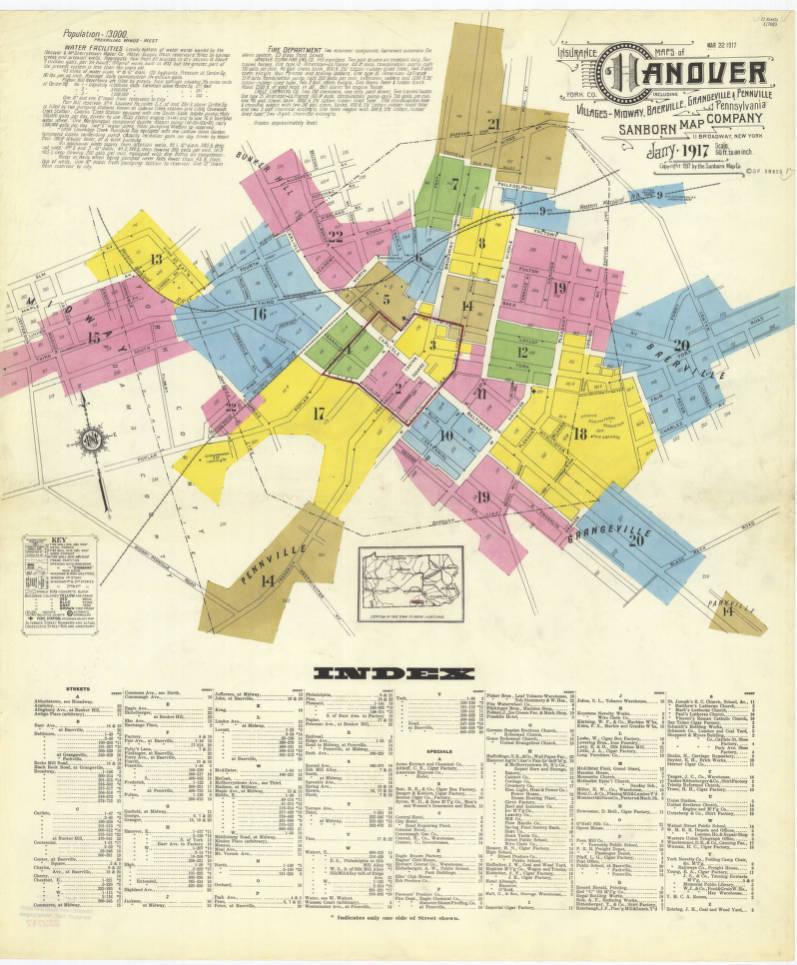 Hanover 1917 Sheet01 Digital Map Drawer Penn State University