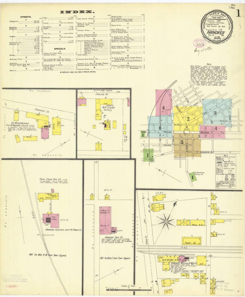 Hanover 1896 Sheet01 Digital Map Drawer Penn State University