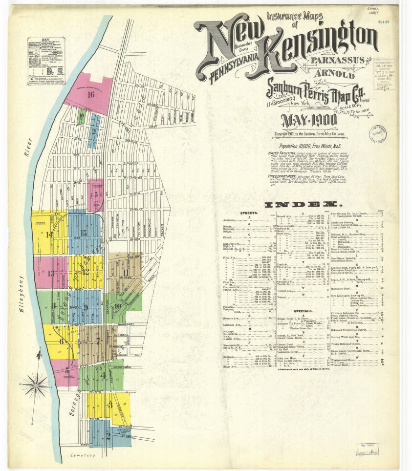 New Kensington-1900_sheet01 - Digital Map Drawer - Penn