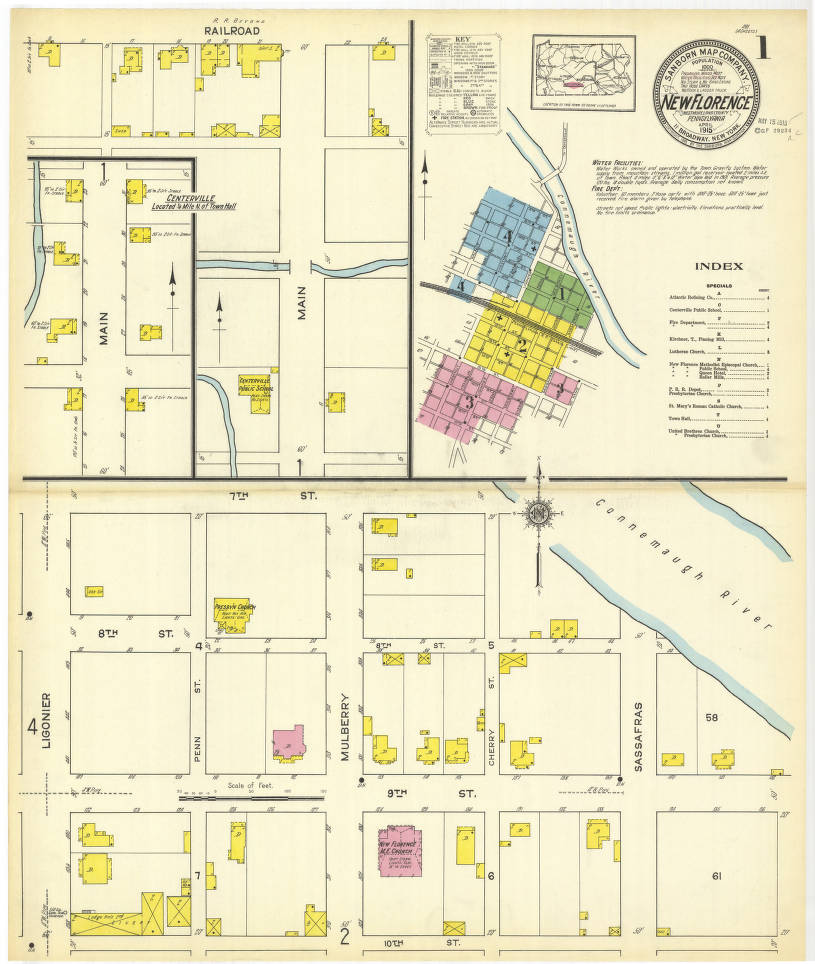New Florence-1915_sheet01 - Digital Map Drawer - Penn State
