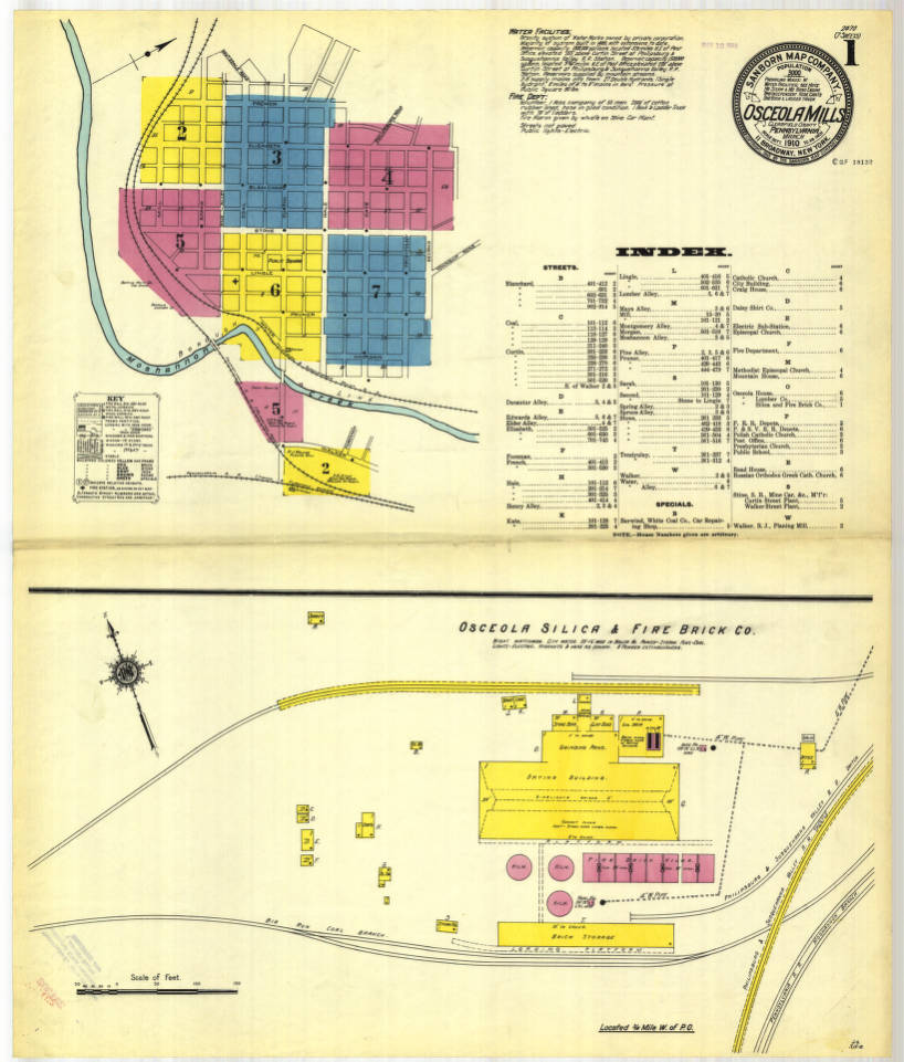 Osceola Mills 1910 Sheet01 Digital Map Drawer Penn State