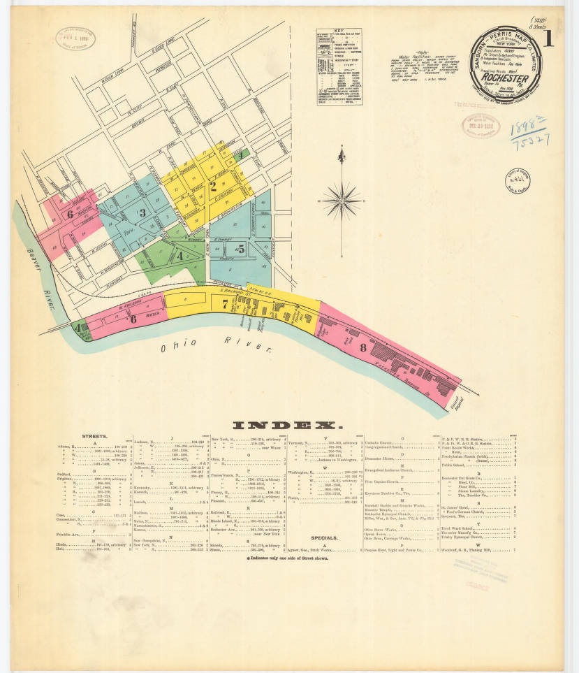 Rochester-1898_A Index - Digital Map Drawer - Penn State University