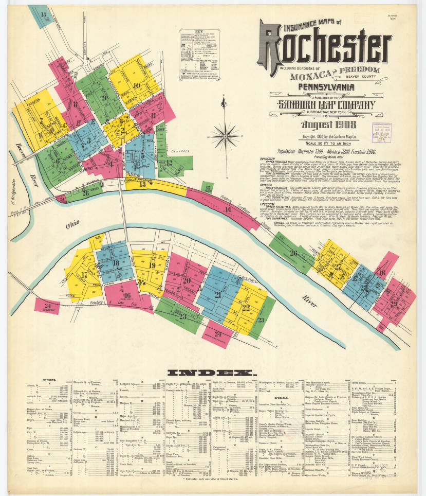 Rochester-1908_sheet01 - Digital Map Drawer - Penn State University