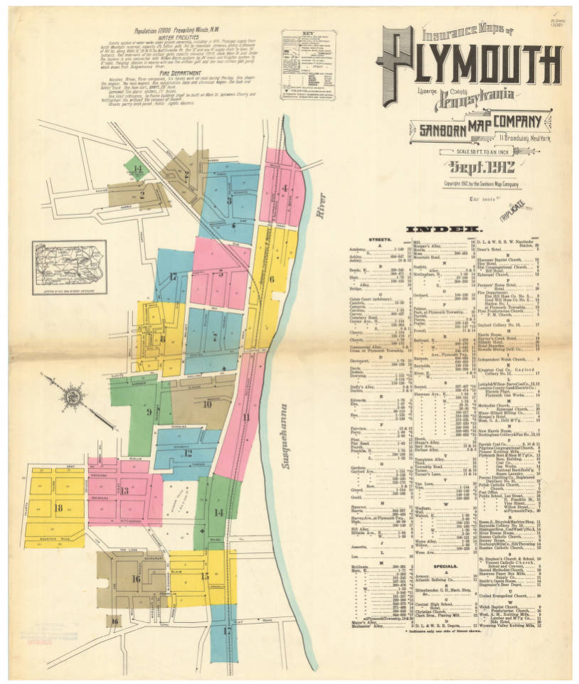 Plymouth-1912_A index - Digital Map Drawer - Penn State University on