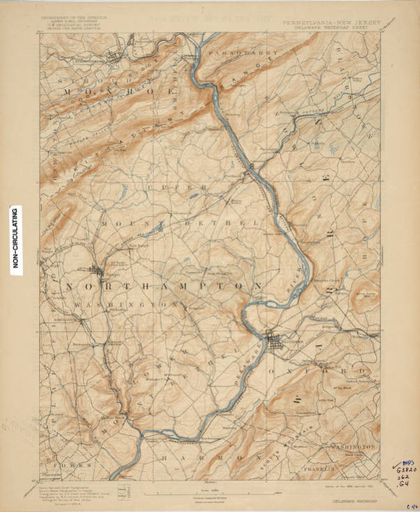 Delaware Water Gap quadrangle, Pennsylvania-New Jersey : 15 minute on