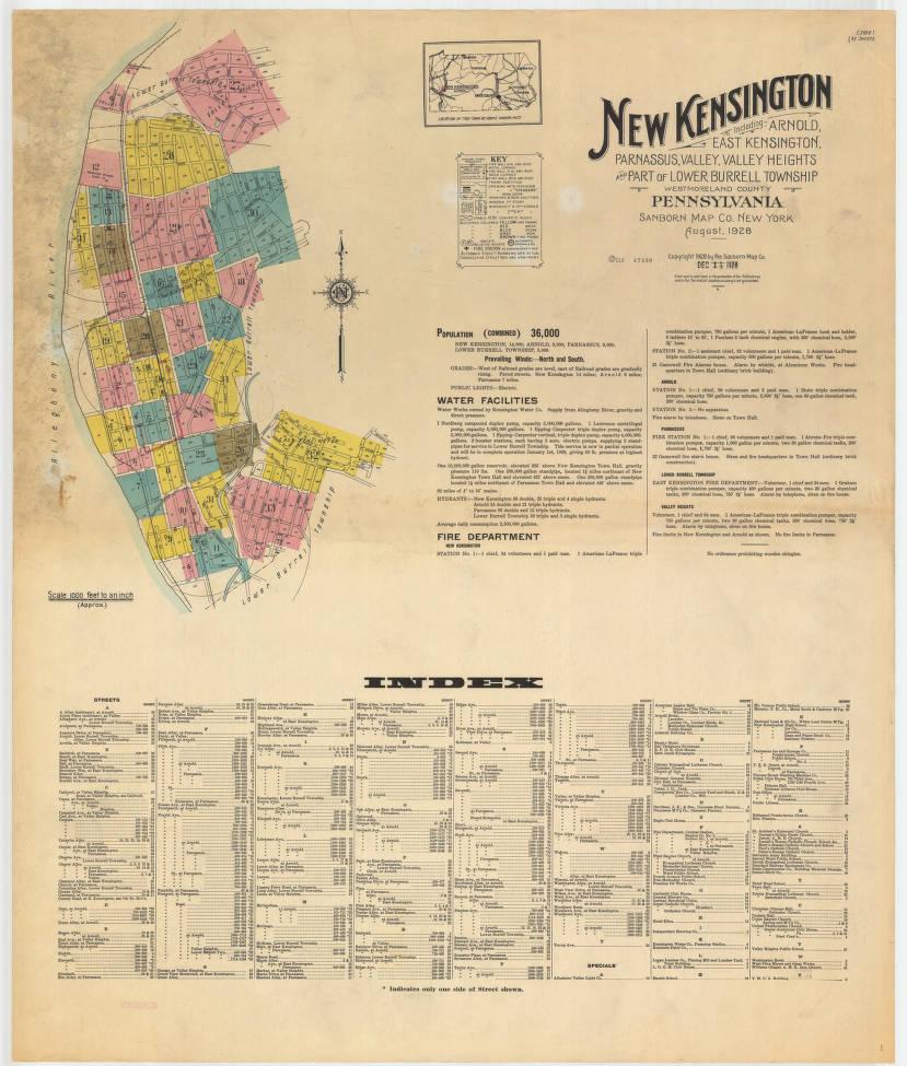 New Kensington-1928_sheet01 - Digital Map Drawer - Penn
