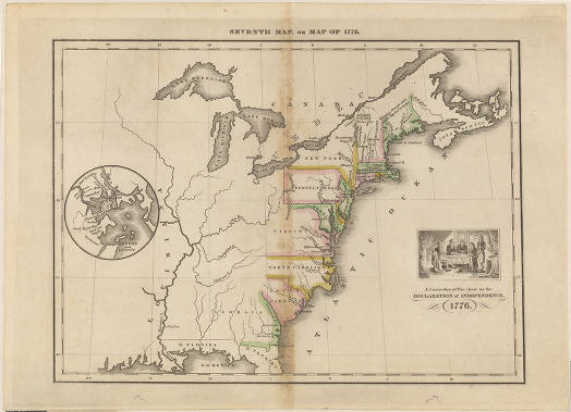 Seventh map, or map of 1776 : [of the east coast of the ...