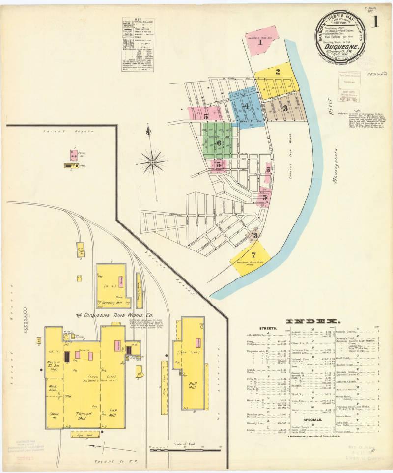 Duquesne-1896_sheet01 - Digital Map Drawer - Penn State University on