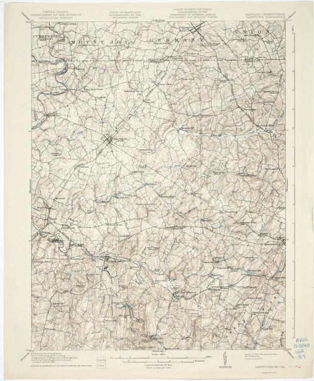 Taneytown quadrangle, Maryland-Pennsylvania : 15 minute series ...