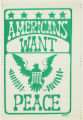 Americans want peace