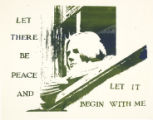 Anti-war and protest posters: Let there be peace and let it begin with me