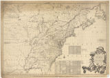 A map of the British and French dominions in North America : with the roads, distances, limits,...