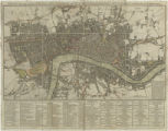 Drew's new and correct plan of the cities of London and Westminster, the borough of Southwark :...