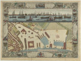 A geometrical plan, & north east elevation of His Majesty's Dockyard at Deptford with part of...